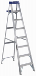 Louisville Ladder AS2108 8-Ft. Step Ladder, Aluminum, Type I, 250-Lb. Duty Rating