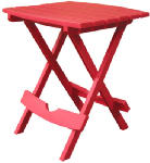 Adams Mfg 8500-26-3731 Quik-Fold Outdoor Side Table, Portable, Cherry Red