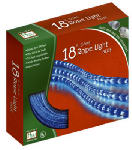 Noma/Inliten-Import 55134-88 Christmas Rope Light Set, Blue, 18-Ft.