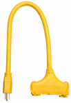 Ho Wah Gentin Kintron Sdnbhd 04112ME 2-Ft. 12/3 STW Yellow 3-Outlet Extension Cord