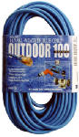Southwire/Coleman Cable 02469-06 100-Ft. 14/3 SJTW-A Blue Extension Cord