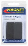 Master Magnetics 07044 2-Piece Ceramic Block Magnets