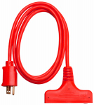 Ho Wah Gentin Kintron Sdnbhd 04004ME 6-Ft. 14/3 SJTW Red 3-Outlet Extension Cord