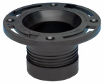 Oatey 43650 ABS Twist-N-Set Closet Flange, 4-In.
