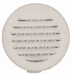 Lomanco CV3BW Circle Vent, White, 3-In., 6-Pk.