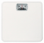Taylor Precision Products 20004014EXP White Square Mechanical Bath Scale
