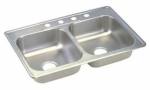 Elkay Sales - Sinks NS233194 33 x 19 x 6-1/4-Inch Stainless-Steel Double-Compartment Mobile Home Sink