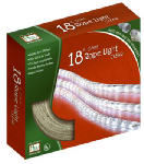 Noma/Inliten-Import 55130-88 Christmas Rope Light Set, Clear, 18-Ft.