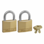 Master Lock 140T 2-Pack 1-9/16 Inch Solid-Brass Padlock