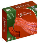 Noma/Inliten-Import 55133-88 Christmas Rope Light Set, Red, 18-Ft.