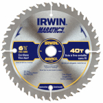 Irwin Industrial Tool 14023 Marathon Circular Saw Blade, Carbide-Tipped, 6.5-In., 40-Teeth