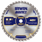 Irwin Industrial Tool 14053 Marathon Circular Saw Blade, Carbide-Tipped,  8.25-In., 40-Teeth