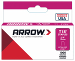 Arrow Fastener 186 1000-Count  T-18 3/8-Inch Staples