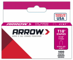 Arrow Fastener 187 1000-Count  T-18 7/16-Inch Staple