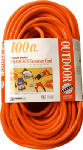 Southwire/Coleman Cable 04219 100-Ft. 14/3 SJTW-A Orange 3-Outlet Extension Cord