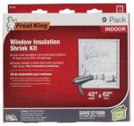 Thermwell V73/9H Window Insulation Kit, 42 x 62-In. 9-Pack