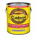 Cabot/Valspar 1844-07 Decking Stain, Solid, Driftwood Gray, Exterior, 1-Gal.