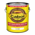 Cabot/Valspar 1812-07 Decking Stain, Solid, White, Exterior, 1-Gal.