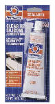 Itw Global Brands 80050 Clear Silicone Adhesive Sealant, 3-oz.