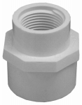 Genova Products 30377 Female Adapter, Reducing,  Slip x Thread, White, 1-In. x 3/4-In.