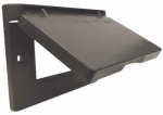 Hubbell Electrical Products 1C-GH-BR Bronze Weatherproof Horizontal GFI Single Gang Flip Cover