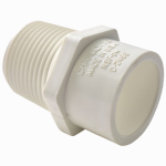 Genova Products 30477 PVC Pressure Pipe Fitting,Reducing Adapter, Male, White PVC, 1 x 3/4-In.