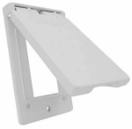 Hubbell Electrical Products 1C-GV-W White Weatherproof Vertical GFI Single Gang Flip Cover