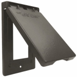 Hubbell Electrical Products 1C-GV-BR Bronze Weatherproof Vertical GFI Single Gang Flip Cover
