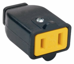 Pass & Seymour SA155BKCC10 Polarized Connector, 15-Amp, 125-Volt, Black