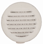 Lomanco CV1BW Circle Vent, White, 1-In., 6-Pk.