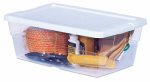 Sterilite 16428012 Storage Box, See-Through, 6-Qt., Must Purchase in Quantities of 12