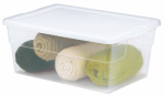 Sterilite 16448012 Storage Box, See-Through, 16-Qt., Must Purchase in Quantities of 12