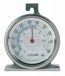 Taylor Precision Products 3507 TruTemp Freezer/Refrigerator Thermometer, Stainless Steel