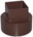 Genova Products RB207 Gutter Downspout Adapter, Brown