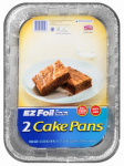 Ez Foil/Reynolds 99940 EZ Foil Bake Pan Set, Covered, 13 x 9 x 2-In., 2-Pk.