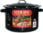 Columbian Home Products 6160-2 Graniteware Ceramic-On-Steel 7-1/2-Qt. Covered Stew Pot