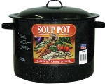 Columbian Home Products 6135 Graniteware Ceramic-On-Steel 11-1/2 Qt. Covered Stew Pot