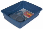 Petmate 22842 Cat Litter Starter Kit, Large, Blue