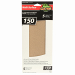Ali Industries 5051 5-Pk., 1/2-Sheet 150-Grit Sandpaper