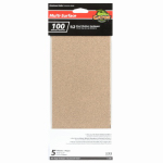 Ali Industries 5052 5-Pk., 1/2-Sheet 100-Grit Sandpaper