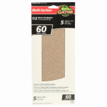 Ali Industries 5053 5-Pk., 1/2-Sheet 60-Grit Sandpaper