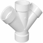 Genova Products 73415 1-1/2 PVC Double Wye