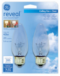 G E Lighting 48699 Reveal 40-Watt Blunt Tip Bulb