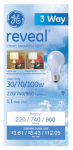 G E Lighting 97784 Reveal A-Line Light Bulbs, 3-Way, 30/70/100-Watt, Must Purchase in Quantities of 12