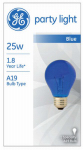 G E Lighting 49724 25-Watt Translucent Blue Party Bulb