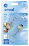 G E Lighting 48696 Reveal 40-Watt Ceiling Fan Bulbs, 2-Pack