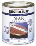 Rust-Oleum 207008 Marine Coatings Spar Varnish, Clear Gloss, 1-Qt.