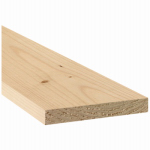 Alexandria Moulding 0Q1X6-70048C Common Wood Board, 1 x 6-In. x 4-Ft.