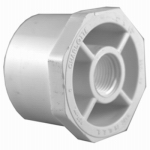 Genova Products 34257 PVC Pressure Pipe Fitting, Reducer Bushing, White PVC, 1-1/2 x 3/4-In.