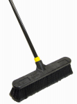 Quickie Mfg 523ZQK Bulldozer Push Broom, Soft Sweep, Polypropylene Fibers, 18-In.